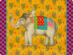 PLACEMAT 30x40cm ELEPHANT GOLD with cork