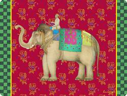 MASONITE PLACEMAT 30X40cm--ELEPHANT RANY