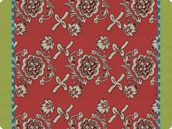 PLACEMAT 30x40cm FLORENCE RED with cork