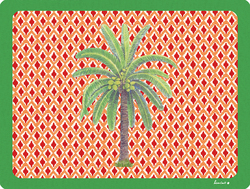 PLACEMAT 30x40cm HIMA PALMA RED with cork