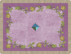 PLACEMAT 30x40cm RASMALAY LILAC with cork
