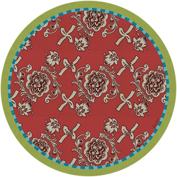 PLACEMAT FLORENCE RED diam. 34 cm with cork