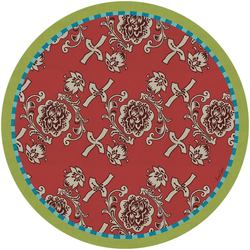 PLACEMAT FLORENCE RED diam. 39cm with cork