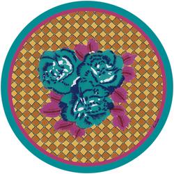 MASONITE PLACEMAT 39cm--THREE FLOWER CHECKS VERONESE