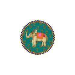 COASTER --ELEPHANT PEACOCK