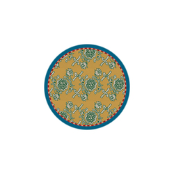 BEVERAGE COASTER FLORENCE GOLD DIAMETER 9,5cm