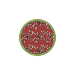 BEVERAGE COASTER FLORENCE RED DIAMETER 9,5cm