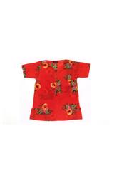 KURTA--ARABESQUE FLOWER RED
