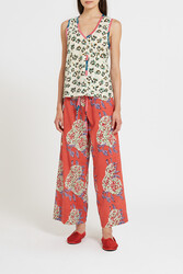 CABANA PANTS--LEOPARD FLOWER RUST