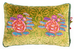 PILLOW COVER 35X50cm APPLIQUE ROYAL PALACE GREEN