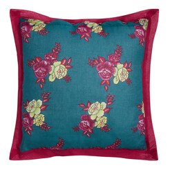 PILLOW COVER 45X45cm GULAB FLOWER PEACOCK