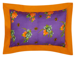 PILLOW COVER 50x80cm SPIGA VIOLET bordo saffron