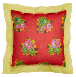 PILLOW COVER 60X60cm TIGER FLOWER RED