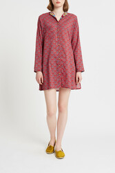 SHORT OPEN KAFTAN WILEY MOTIVE RED