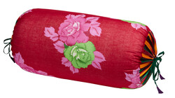 PILLOW PALOMA BOLSTER COVER BIG FLOWER MAROON