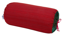 PILLOW PALOMA BOLSTER COVER SUSY STRIPES DARK RED