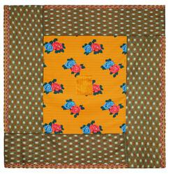 REVERSIBLE GUDRI 250x270cm--TIGER BIG FLOWER CELADON