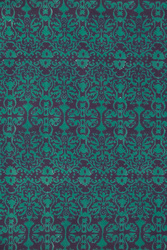FABRIC--DAMASK DESIGN GREY GREEN
