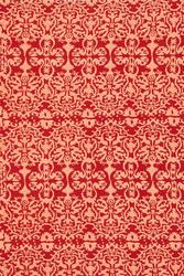 FABRIC--DAMASK DESIGN RED ROSE