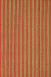 FABRIC--STRIPES RED GREEN